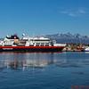 MS FRAM Hurtigruten Ship docked in Ushuaia, Argentina