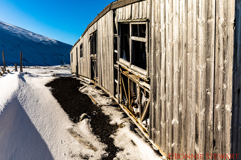 Remnants of an old abandoned Norwegian whaling town at Deception Island.   The town was built in the early 1890's and abandoned in 1959.  This is one of the buildings that is falling down.