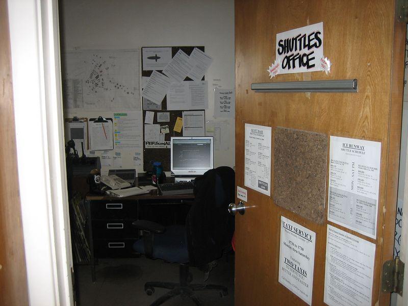 Shuttles office...