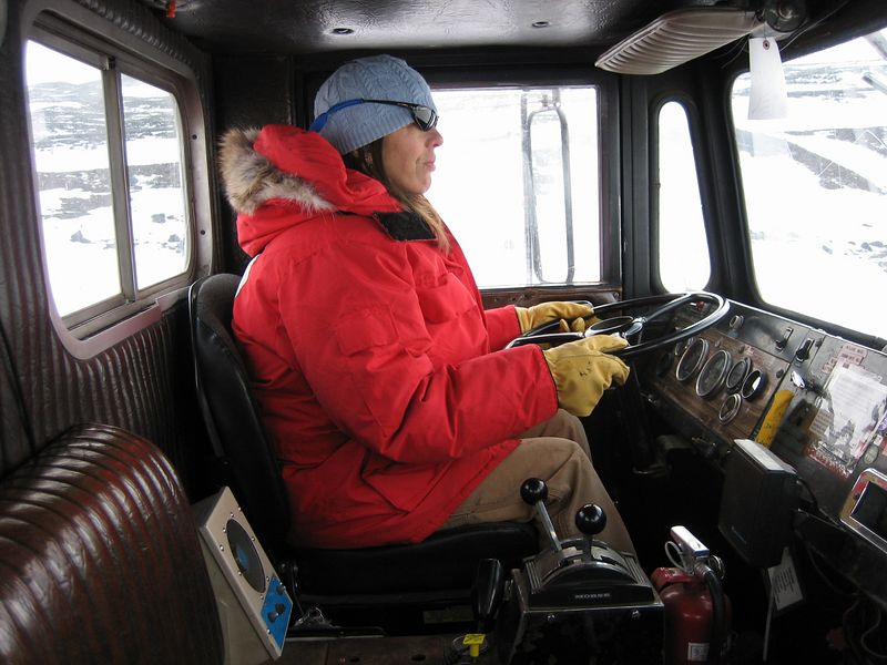 Sue driving Delta 363