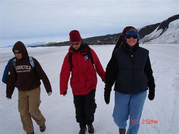 Me, Karen & Lynette on the walk over