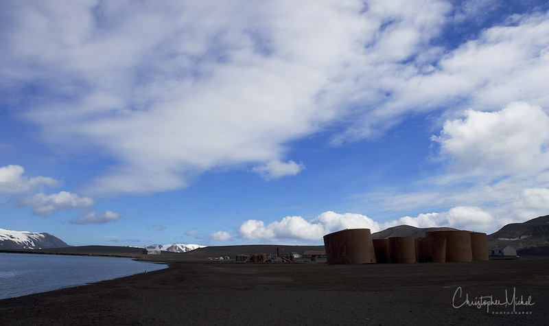 Deception Island 63° 21' S 60° 45' W In 1906, Captain Adolfus Amandus Andresen was the first to establish a whaling operation here.