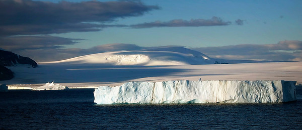 Table iceberg as cruising through Antarctic Sound