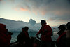 An evening zodiac cruise amongst the amazing ice formations