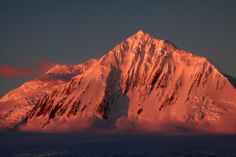 Mountain and Setting Sun - Antarctica
