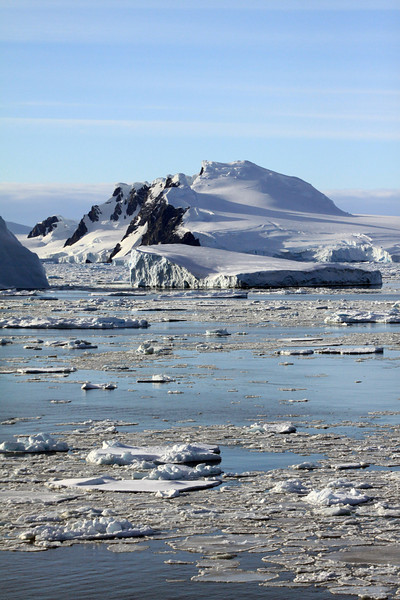 Sunny Day on Charcot Island Vertical - Antarctica