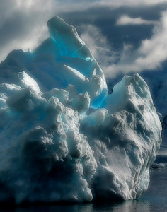 Natural Ice Sculpture, Welhelmina Bay, Antarctica