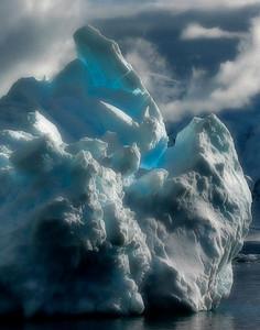 Natural Ice Sculpture, Welhelmina Bay, Antarctica