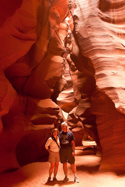 """Upper Antelope Canyon, near Page, Arizona. We highly recommend taking the 2 1/2 hour photographic tour with Milo from <a href=""""http://www.antelopeslotcanyon.com/"""">Chief Tsosie's Tours</a>  Photo by Dennis"""