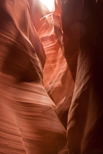 "Upper Antelope Canyon, near Page, Arizona. We highly recommend taking the 2 1/2 hour photographic tour with Milo from <a href=""http://www.antelopeslotcanyon.com/"">Chief Tsosie's Tours</a>  Photo by Dennis"
