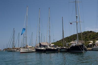 Yachts in Nelson's Dockyard