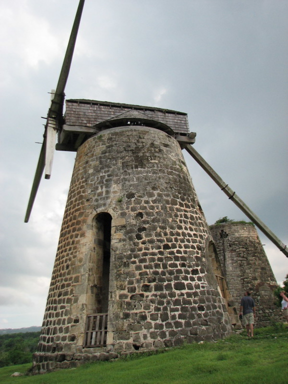 Windmill.  They used it for processing sugar cane for molasses, which in turn would be used for making rum.