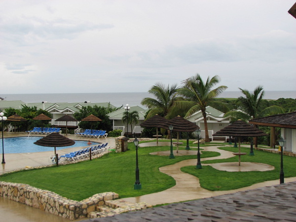 The Verandah's pool area.