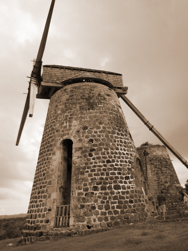 Same windmill, only in sepia.  Which one do you like best?