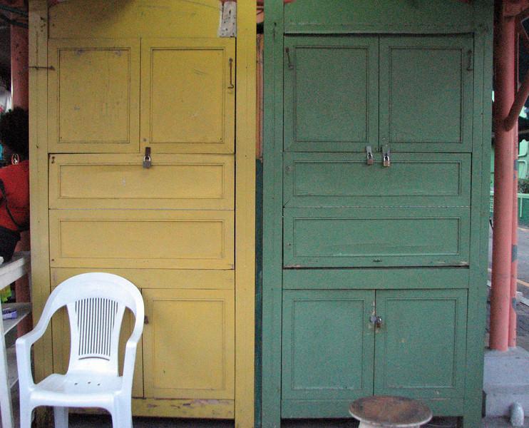 Doors.  St. John's market.