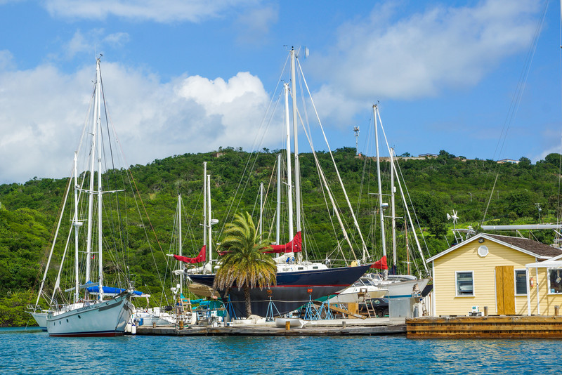 Ships at English Harbour, Antigua