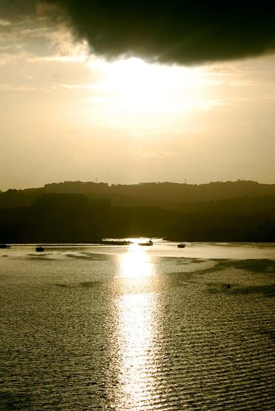 Sunrise entering the Port of Antigua on Serenade of the Seas 11/21/06