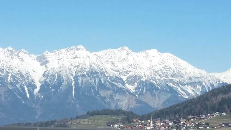 From the road heading to Austria