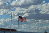 flag and clouds sky
