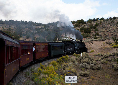 Antonito Steam Train bend CO 7149