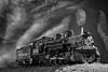 Steam train 6878 plain sky