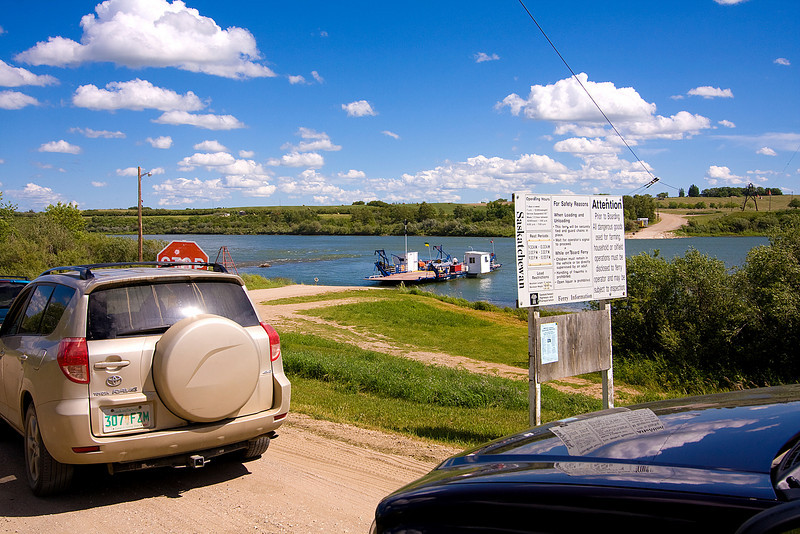 We got to cross the South Saskatchewan River on the ferry.