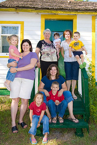 A bunch of us in front of great-grandma Antoshkiw's house