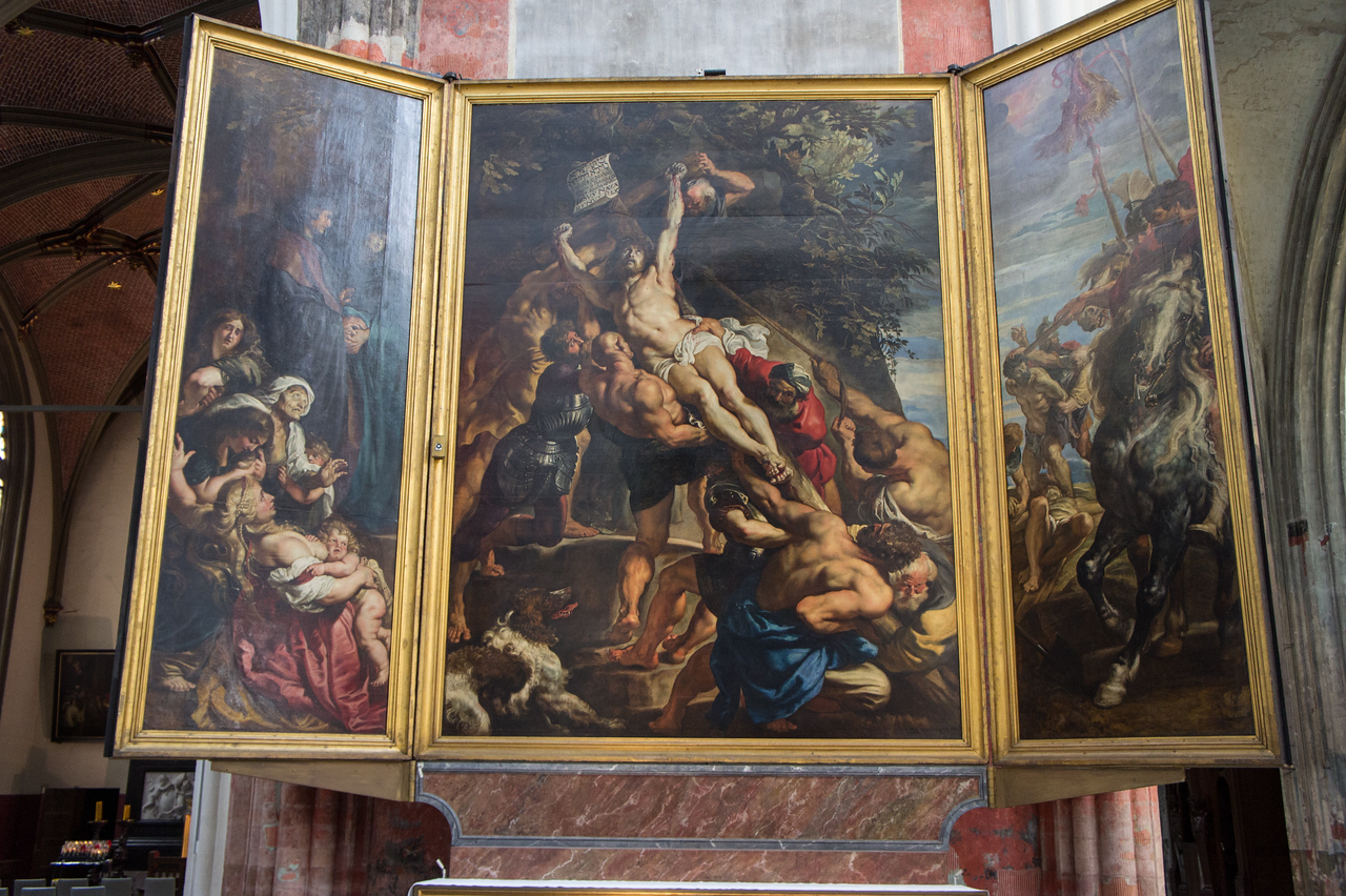 Rubens painting in Cathedral of Our Lady