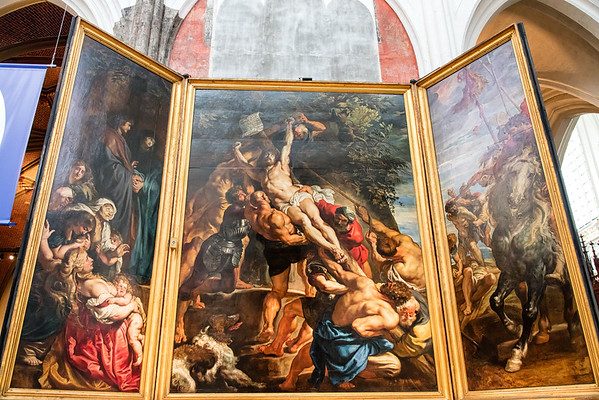 Antwerp Cathedral - Christ Ascending by Reubens