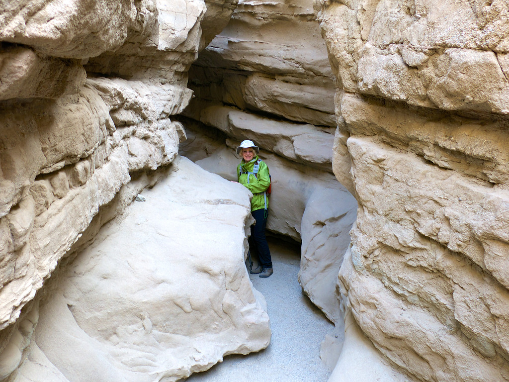 Beth in the slot canyon