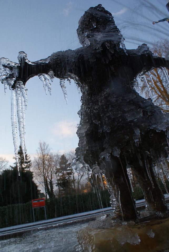 In Apeldoorn.  Yeah, it was cold.