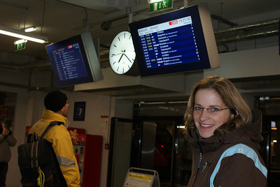 Here we are at Vienna's train station getting ready to board our first overnight train.
