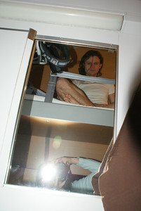 There I am on the top bunk in the compartment.