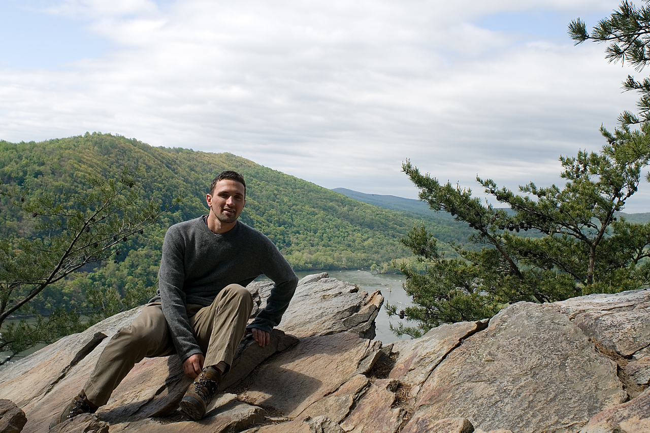 Self Portrait from Weverton Cliffs over the Potomac