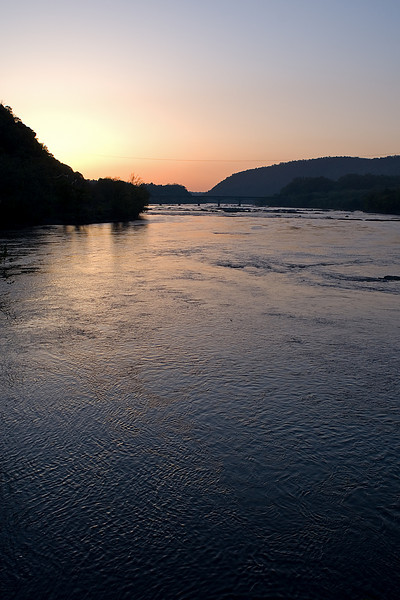 Harpers Ferry, WV<br /> <br /> On the way to the train after staying the night at the Harpers Ferry Hostel, we were treated to an incredibly crisp and clear morning with a beautiful sunrise!  This is the Potomac River just after the Shenandoah River joins from the right.