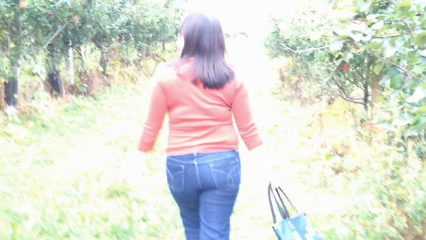 Walking in an apple wonderland