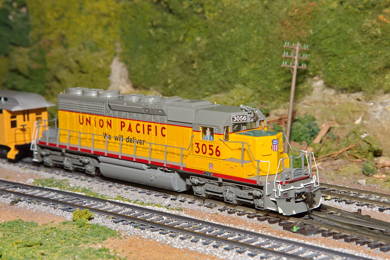 This is a close-up of the same Union Pacific diesel engine from the previous photos.