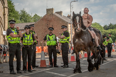 Police at the Appleby Horse Fair