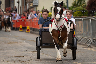 Pony and trap at the Appleby Horse Fair 2018