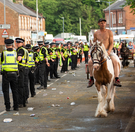 Line of Police at the Appleby Horse Fair 2018