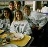 Eating at O'Hare - me, Kim, Andrea, Olivia, Jenny.