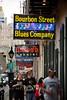 Burlesque Stepped side for Cabaret - Bourbon Street, French Quarter of New Orleans