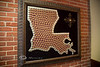 The State of Louisiana Made from Abita Beer Caps - Abita Brewery, Abita Springs Louisiana