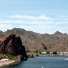 Between Parker and Lake Havasu AZ
