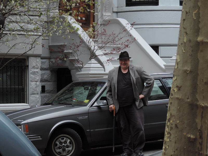 We drove the '84 Olds down.  On Friday we go a free parking space at 327 West 101st St, a block and a half from the hotel.