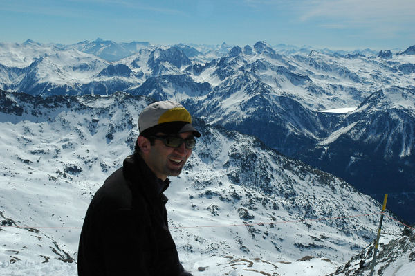 Mohammed at the summit of Les Trois Vallees.
