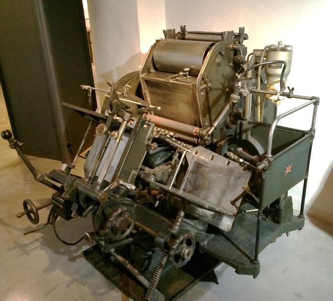 Press in museum