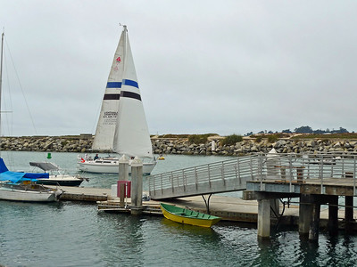 Santa Cruz Harbor entrance.