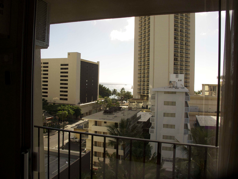 This is our view from the side balcony in the room -- one of three balconies.