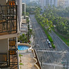 view from my lanai up Ala Moana Boulevard